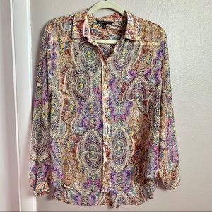 Victorias Secret Sheer Paisley blouse